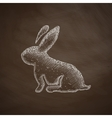easter rabbit icon vector image vector image