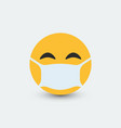 emoji with mouth mask vector image vector image