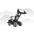 excavator logo template heavy equipment logo for vector image