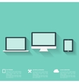 Flat abstract background with web icons Interface vector image vector image