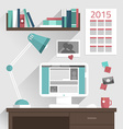 Flat design concept of modern home or busine vector image vector image