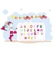 French alphabet alphabet franais vector image