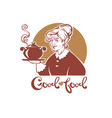 good food portrait of lovely grandmother a vector image vector image