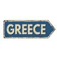 greece vintage rusty metal sign vector image vector image