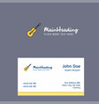 guitar logo design with business card template vector image