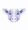halftone of pig vector image