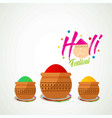 happy holi festival white holi background having vector image