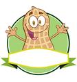 Happy peanut cartoon sticker vector image vector image