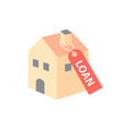 house hanging loan labels vector image vector image