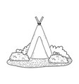 indian camping tent in the landscape vector image