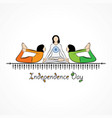 indian independence day concept background with vector image vector image