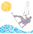kite jump vector image