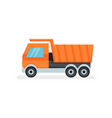 large dumper truck with tipping body industrial vector image vector image