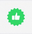 like and dislike icons collection set thumbs up vector image vector image