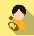 mother and her baby isolated objects on vector image vector image