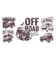 off road logo template set vector image