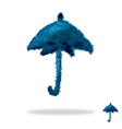 Oil painted umbrella vector image vector image