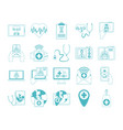 online doctor physician technology consultant vector image vector image