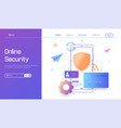 online security technology personal data vector image vector image