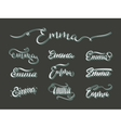 Personal name Emma vector image vector image