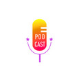 podcast radio microphone concept webinar vector image