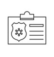 police identity card police related icon outline vector image
