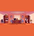 principal school office interior director room vector image vector image