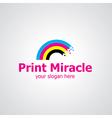 print miracle vector image vector image