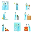 Professional Clean Up Service Set Of vector image vector image
