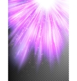Purple glitter particles background effect EPS 10 vector image vector image