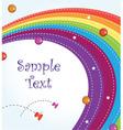 rainbow card vector image vector image
