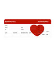 red boarding pass vector image