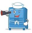 sailor mailbox character cartoon style vector image vector image