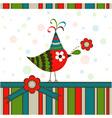 Scrapbook Bird Greeting Card vector image vector image