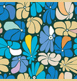 seamless floral pattern design with stylized vector image