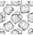 seamless pattern with black and white croissants vector image vector image