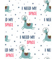 seamless pattern with cute llama in space vector image vector image