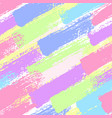 seamless pattern with pastel color brush strokes vector image vector image
