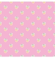 Seamless pink pattern or texture with cupcakes vector image