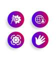 seo gear international recruitment and cogwheel vector image vector image