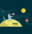 space discoveries concept background flat style vector image