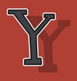 sticker yahoo icon social company logo search vector image vector image