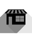 Store sign black icon with