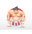 sumo standing in crouch stance vector image vector image