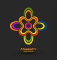 united community logo logo design company vector image