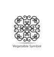 vegetable or geometrical symbol vector image vector image
