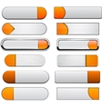 White and orange high-detailed modern web buttons vector | Price: 1 Credit (USD $1)