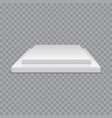 white podium square 3d empty podium with steps vector image vector image