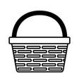 wicker basket icon vector image