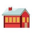 winter cabin icon vector image